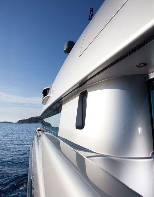 Superyacht side deck.
