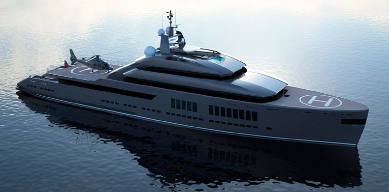 Model view 1 of Luxury Super Yacht - Icon Hotlab 240 Ft .