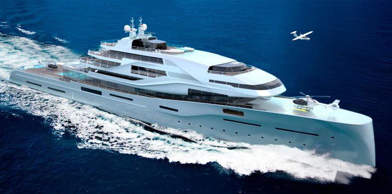 Running Shot Luxury Super Yacht - Icon IPI New york 401.