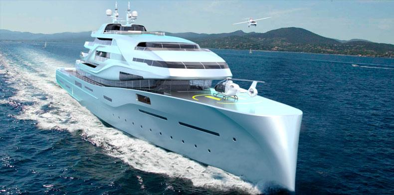 Angular shot Icon IPI New york 402, Luxury Super Yacht.