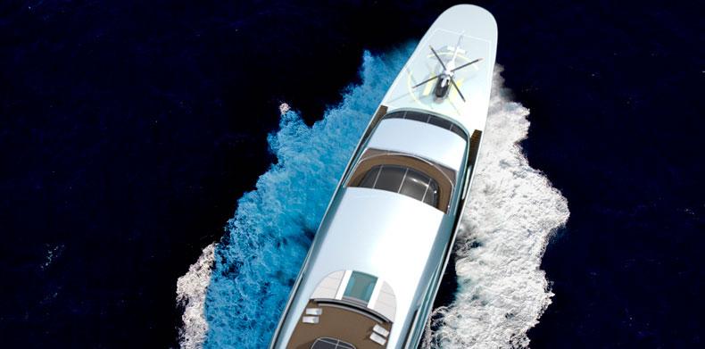 Overhead Deck View Icon IPI New york 403, Luxury Super Yacht.
