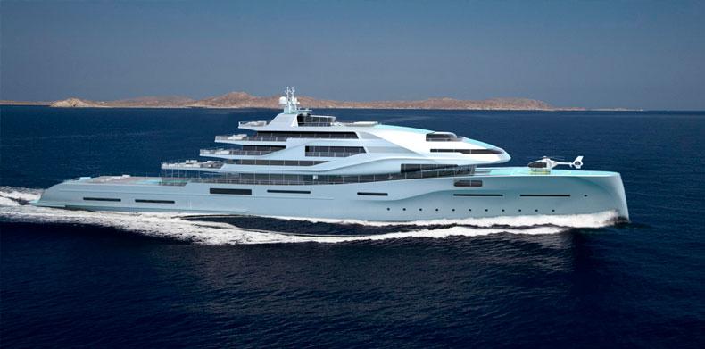 Horizontal view Icon IPI New york 405, Luxury Super Yacht.