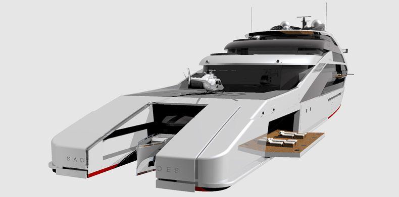 Front view of Icon Sabdes 475 - Super Yacht Design.