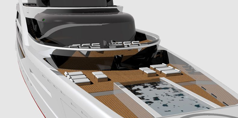 Deck view Icon Sabdes 475 - Super Yacht Designers.