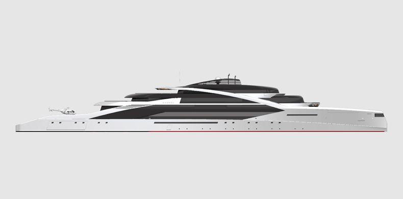 Horizontal view of Icon Sabdes 475 -Super Yacht Designers.