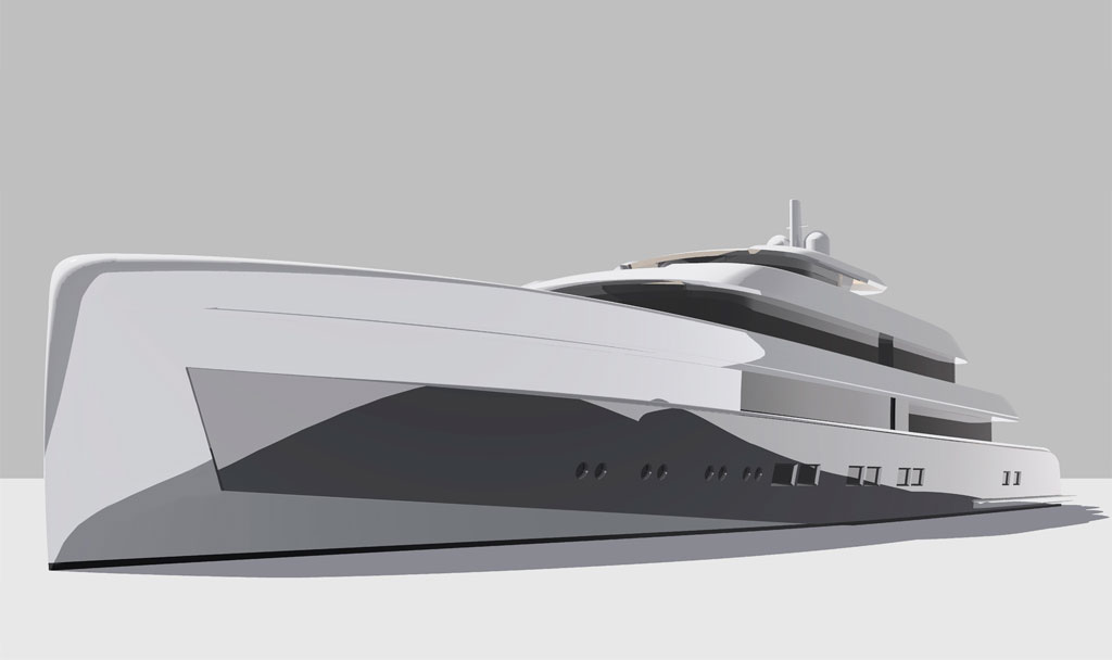Sea shot of Icon 235 Ft - Van Geest Design.