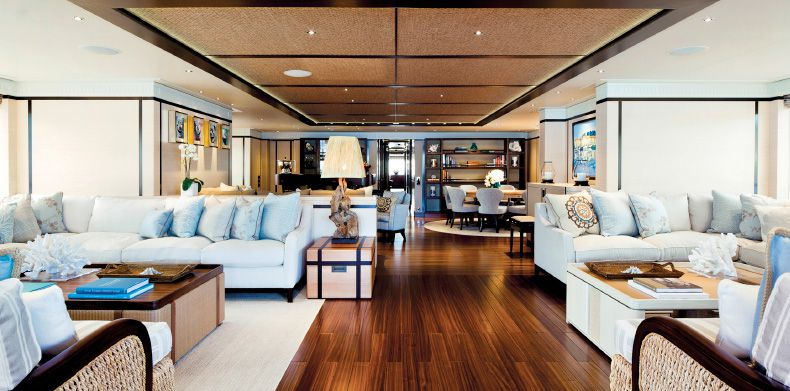 Baton Rouge - Luxury interior designed living space on a superyacht.