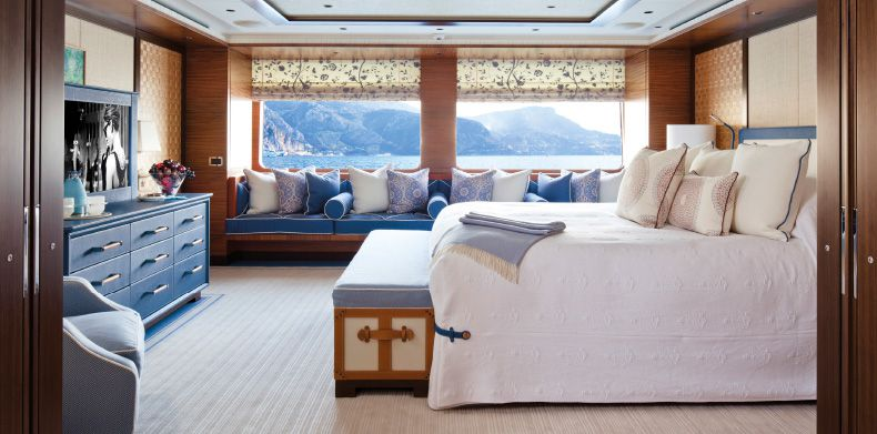 Super Luxury Yachts- Master suite onboard superyacht Baton Rouge.