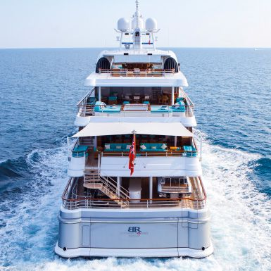Super Luxury Yachts-Stern view of Superyacht Baton Rouge built by ICON Yachts.