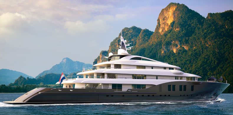 Luxury Super Yachts-M/Y Icon280 at anchor
