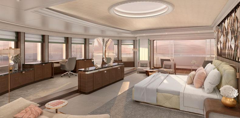 ICON280, Luxury Super Yachts - master stateroom.