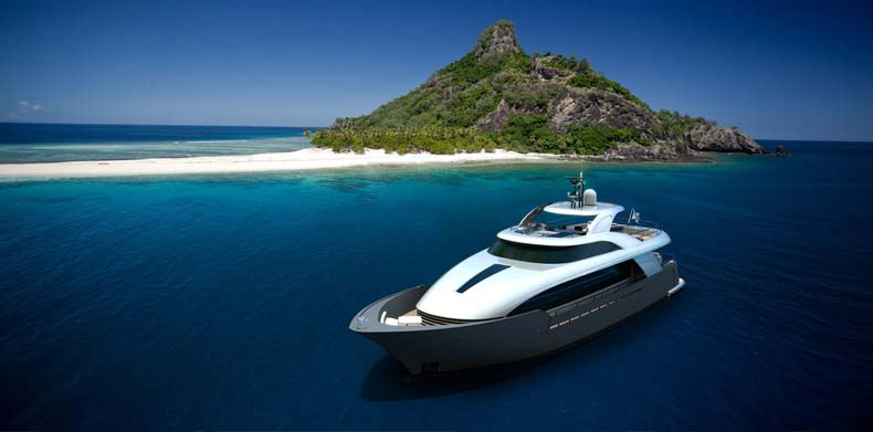 Luxury Super Yachts - M/Y Islander at anchor
