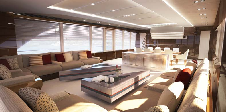 ICON Islander , Luxury Super Yachts - Expansive main saloon.