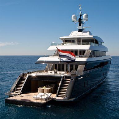 Superyacht beach club on M/Y Icon - New Build,Icon-250, Super Luxury Yachts.