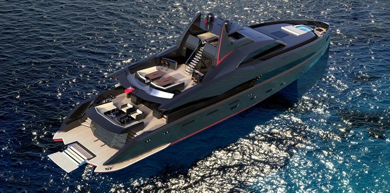 Luxury Super Yachts - M/Y Islander at anchor