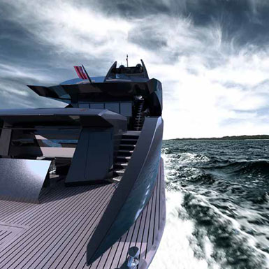 New Build , Super Luxury Yachts-Bow view of M/Y Baton Rouge.